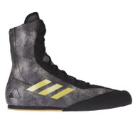 Adidas Box Hog Plus Boxing Boots Black/Grey/Gold