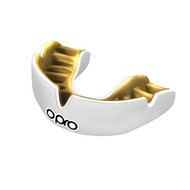 Opro Power Fit Mouth Guard White/Gold