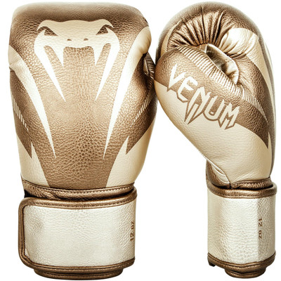 Venum Impact Boxing Gloves Gold/Gold