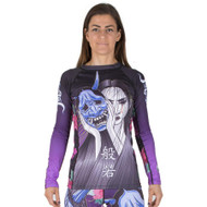 Tatami Fightwear Ladies Weeping Hannya Long Sleeve Rash Guard