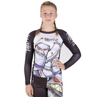 Tatami Fightwear Kids Robots Long Sleeve Rash Guard