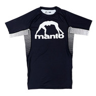 Manto Logo Short Sleeve Rash Guard Black
