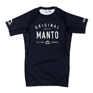 Manto Old School Short Sleeve Rash Guard Black