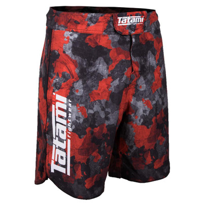 Tatami Fightwear Renegade Camo Fight Shorts Black/Red