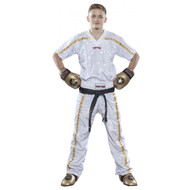 Top Ten Mesh KB Pants White/Gold