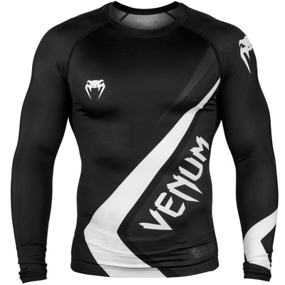 Venum Contender 4.0 Long Sleeve Rash Guard Black/Grey/White