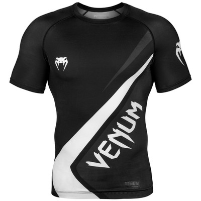 Venum Contender 4.0 Short Sleeve Rash Guard Black/Grey/White