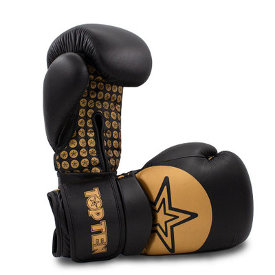 Top Ten Wrist Star Boxing Gloves Black/Gold