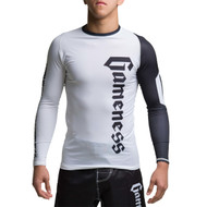 Gameness Pro Ranked Long Sleeve Rash Guard White