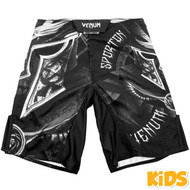 Venum Gladiator Kids Fight Shorts Black/White