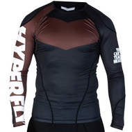 Hyperfly ProComp Supreme Long Sleeve Rash Guard Black/Brown