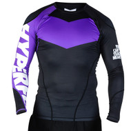 Hyperfly ProComp Supreme Long Sleeve Rash Guard Black/Purple