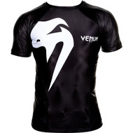 Venum Giant Short Sleeve Mens Rash Guard Black