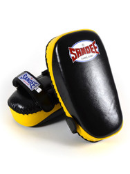 Sandee Leather Authentic Curved Thai Pads Black/Yellow