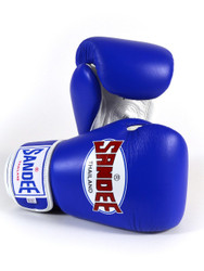 Sandee Leather Authentic Boxing Gloves Blue