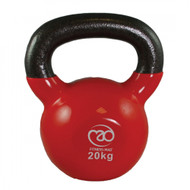 Fitness Mad Vinyl Covered 20kg Kettlebell Red 20kg