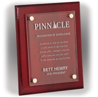 Rosewood (Piano Finish) Floating Plaque