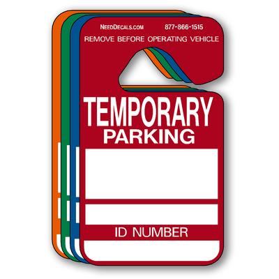 Temporary Parking Hang Tag Permits