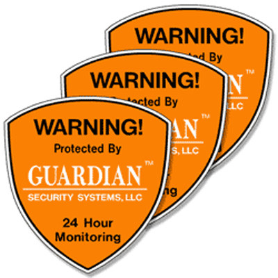 Security System Decals - 3 Pack - help protect your home or business even if you do not have an alarm system. We recommend security system decals be placed on all first floor doors and windows.