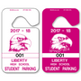 Parking Pass Hang Tags allow endless design possibilities and project a professional image. Available in over 30 Stock Ink Colors or unlimited custom colors. These durable Parking Hang Tags are printed on heavy duty .035 inch material to give you the strongest parking permit available. Order today and get Free Setup, Free Numbering and Free Logo.