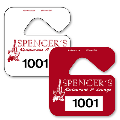 Custom Parking Hang Tags allow endless design possibilities and project a professional image. Available in over 30 Stock Ink Colors or unlimited custom colors. These durable Parking Hang Tags are printed on heavy duty .035 inch material to give you the strongest parking permit available. Order today and get Free Setup, Free Numbering and Free Logo.