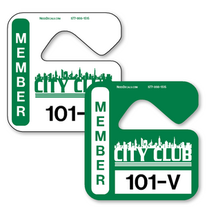 Custom Parking Passes allow endless design possibilities and project a professional image. Available in over 30 Stock Ink Colors or unlimited custom colors. These durable Parking Hang Tags are printed on heavy duty .035 inch material to give you the strongest parking permit available. Order today and get Free Setup, Free Numbering and Free Logo.
