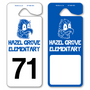 Large Number Hang Tags allow endless design possibilities and project a professional image. Available in over 30 Stock Ink Colors or unlimited custom colors. These durable Parking Hang Tags are printed on heavy duty .035 inch material to give you the strongest parking permit available. Order today and get Free Setup, Free Numbering and Free Logo.