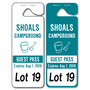 Custom Car Rider and Parent Pick Up Tags allow endless design possibilities and project a professional image. Available in over 30 Stock Ink Colors or unlimited custom colors. These durable Parking Hang Tags are printed on heavy duty .035 inch material to give you the strongest parking permit available. Order today and get Free Setup, Free Numbering and Free Logo.