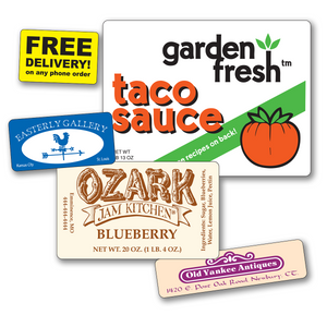 Medium Rectangle Roll Labels - TWO Colors  (Per 1,000)