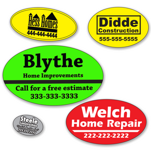 Small Oval Roll Labels - ONE Color (Per 1,000)