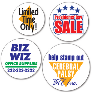 Mini Custom Round Labels - TWO Color (Per 1,000)