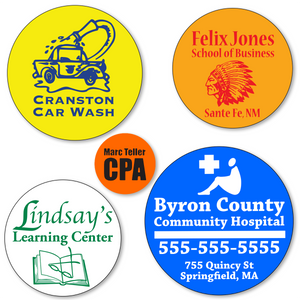 Large Custom Round Stickers  - ONE Color (Per 1,000)