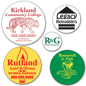 Larger Custom Round Sticker Labels - ONE Color (Per 1,000)