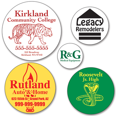 Larger Custom Round Sticker Labels - ONE Color