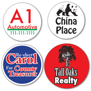 Larger Custom Round Stickers - TWO Color (Per 1,000)