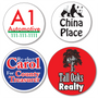 Larger Custom Round Parking Stickers - TWO Color