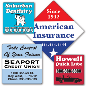 Large Square Roll Labels - TWO Color (Per 1,000)