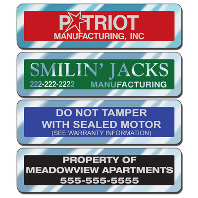 """Chrome 2 7/8"""" x 3/4"""" Service and Inventory Decals"""