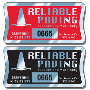 Numbered Asset Tag Stickers allow endless design possibilities and project a professional image.