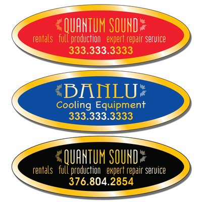 """3 3/4"""" X 1 1/4 """" Call For Service Stickers allow endless design possibilities and project a professional image."""