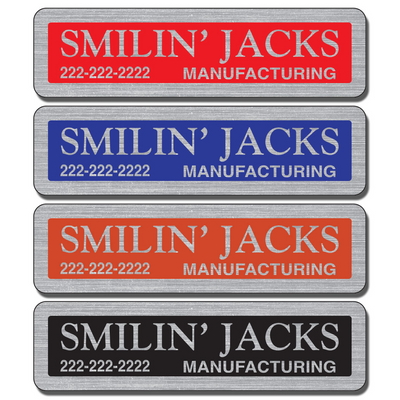 Service industry businesses place equipment stickers on equipment they have installed or serviced while other businesses use them for asset tracking.