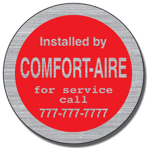 Brushed Chrome Contractor Equipment Stickers