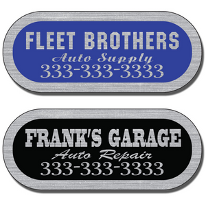 These Silver Service Stickers are often used by service industry businesses on equipment they have installed or serviced.