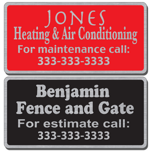 Custom service stickers for equipment - indoor or outdoor use allow endless design possibilities and project a professional image.