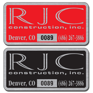 Our numbered aluminum stickers are extremely durable and are available in three finishes: Chrome, Gold, and Brushed Chrome.