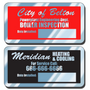 These Write-On aluminum decals are a great way to display your company information and phone numbers. Worker safety depends on proper inspections that can be easily documented with these Write-On aluminum decals.
