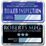 Embossable Aluminum Stickers can be embossed using a ballpoint pen or typewriter. These embossable aluminum stickers are a great way to display your company information and phone numbers.