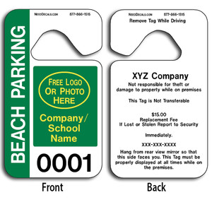 4-Color Process Car Mirror Hang Tags allow endless design possibilities and project a professional image.