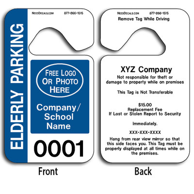 Handicap Parking Hang Tag Permits allow endless design possibilities and project a professional image. These durable Custom Handicap Parking Hang Tag Permits are UV laminated front and back to give you the strongest parking permit available.