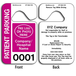 4-Color Process Hang Tag Parking Permits allow endless design possibilities and project a professional image.